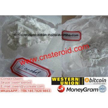 Suppléments anaboliques oraux de bodybuilding de poudre de Metandienone de poudre de Dianabol