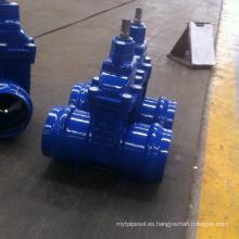 Válvula de compuerta asentada suave resbaladiza del extremo del zócalo del Non-Rising para el tubo del PVC
