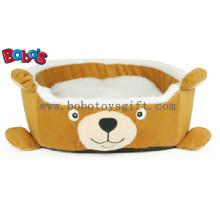 Novo projeto de pelúcia cartoon urso forma cachorro cachorro cama de gato Pet Bed Bosw1091 / 45X40X13cm