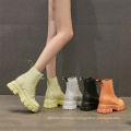 Thick chunky sole  waterproof marten boot women fashion ankle boot