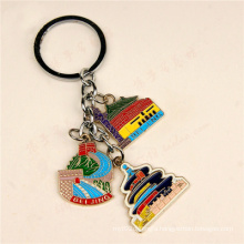 Metal Keychain with Colourful Logo Debossed