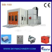 SB100, industrial paint spraying booth car paint booth price