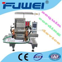 Machine de broderie à une tête à 15 couleurs avec pince-fil / dispositif de cordage