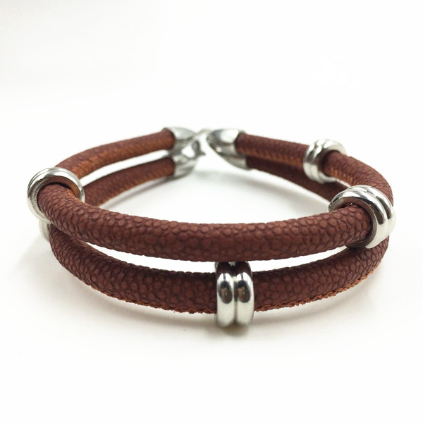 Ring charm Leather Bracelets