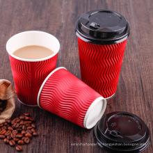 tasse jetable de papier de crème glacée de café