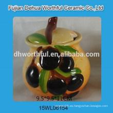 Handpainting oliva diseño cerámica condimento conjunto
