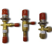 compressor capacity adjust valve between high and low pressure side