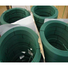 30m en espiral Coiled PVC suave revestida de alambre para el jardín y la agricultura