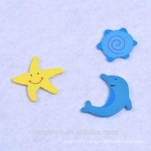 2015 creative funny shape paper wooden fridge magnet for children