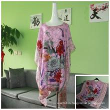 Дамская розовая блузка с вискозным сплетением