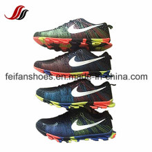 New Design Comfortable Flyknit Casual Sport Shoes Running Shoes for Men