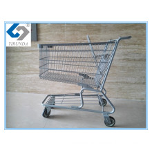 Hot Sale Supermarket Wheeled Shopping Trolley