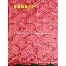 Hot Venda Africano suíço Voile tecido com pedras (82038)