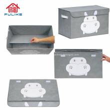 Boîtes de tabouret de rangement fantaisie pliantes en plastique rectangulaires