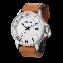 business making machine genuine leather strap watch