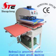 Máquina de transferencia de calor de presión hidráulica de gran formato 50 * 60 cm Máquina de impresión de calor de presión doble máquina de presión de aceite Máquina de impresión de calor de presión hidráulica