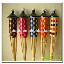 Audu Natural Material Bamboo Tiki Torch For Garden