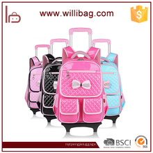 Cute Trolley Backpack Nuevo diseño desmontable Kid Trolley School Bag