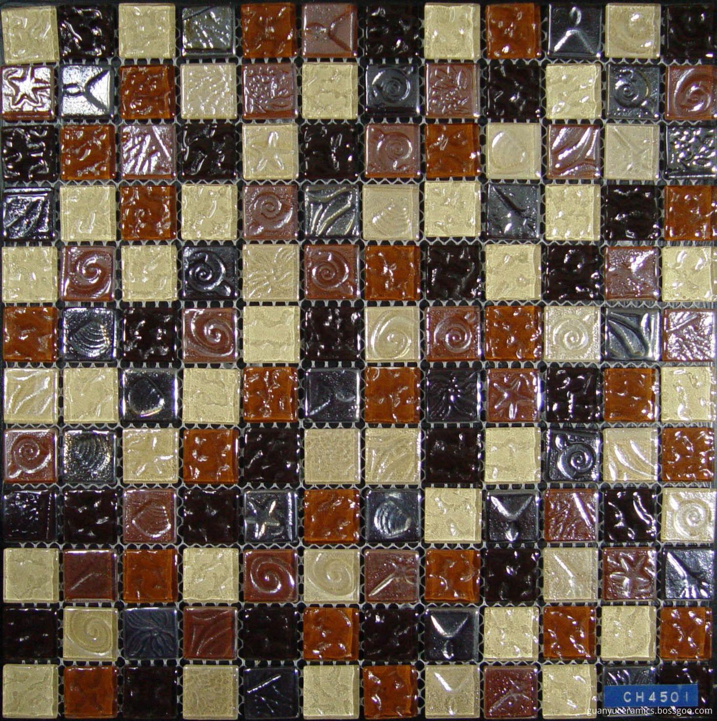 Bumpy Color Mixed Crystal Glass Mosaic
