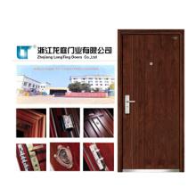 Porte blindée en bois en acier avec style turc