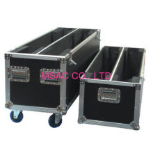Sliver Aluminum Instrument Cases / Tool Cases , Flight Cases With Wheels