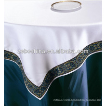 Fashion design direct factory made wholesale hotel embroidery tablecloth