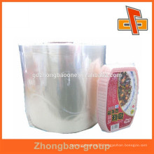 china soft packaging material pvc printable shrink film for instant food