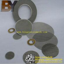 Filtro de malla de alambre de acero inoxidable Disco de corte de tela