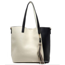 New Arrival Fashion Women Tote PU Leather Handbag