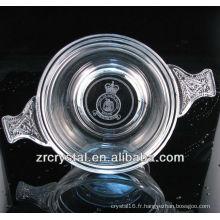 Magnifique récipient en cristal P199-2