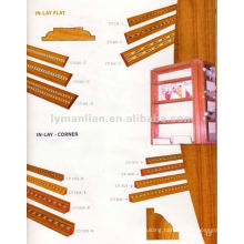 INLAY AND CORNER DESIGN WOOD BEEDINGS