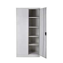 Mingxiu 2 Swing Door Steel File Cabinet / Gray Color Metal Filing Cabinet