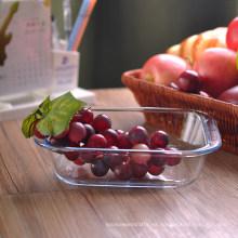 Recipiente de vidrio cuadrado para frutas