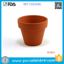 Original Erde Gelb Blumentopf Keramik Blumentopf