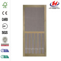 Premium 5-Bar Stainable Screen Wooden Door