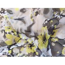 Tissu en mousseline imprimé en polyester 30d pour vêtement