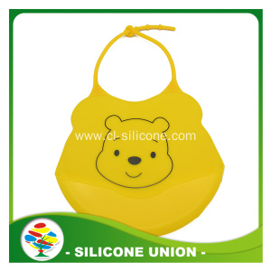 2017 hot selling eco-friendly silicone baby bib