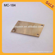 MC184 Fashion sewing metal label small custom metal logo alloy logo metal plate for cap