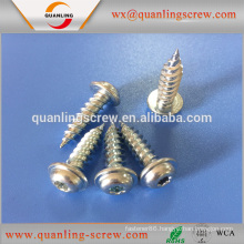 Wholesale china merchandise pan flanged head flat head white zinc self tapping screw