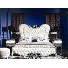 FOSHAN muebles de dormitorio de cuero blanco estilo francés BD8025