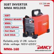 New designed for 4.0mm electrode IGBT inverter DC mma stick welder with CE 180A