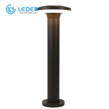 LEDER Black 12W Aluminum LED Bollard Light