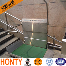 outdoor CE inclined stairlifts for elderly people wheelchair lift platform