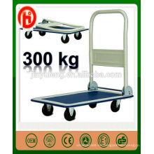 carretilla del carro de la mano de la plataforma para las fábricas, talleres, carga de abastecimiento de la logística 300kg