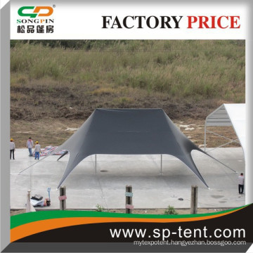 Economical double star tent for outdoor temporary event