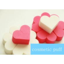 Esponja de maquiagem / Puff cosmético de beleza / Esponja em formato de coração sem látex
