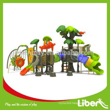 2015 Luxury High Quality Commercial Outdoor Playground Plastic Slides with Climbing Frames