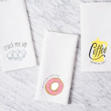 высокое качество печати смешные пончик квадратная кухня полотенце чай полотенце ТТ-019
