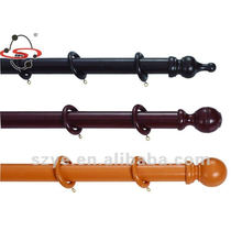 decorative window wooden curtain rod