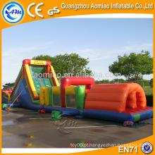 Engraçado 0,55 milímetros pvc matéria-prima curso obstáculo inflável para diversão